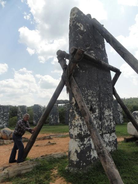 constructing-foamhenge