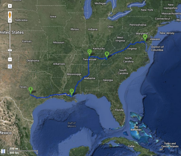 md-austin-roadtrip-route