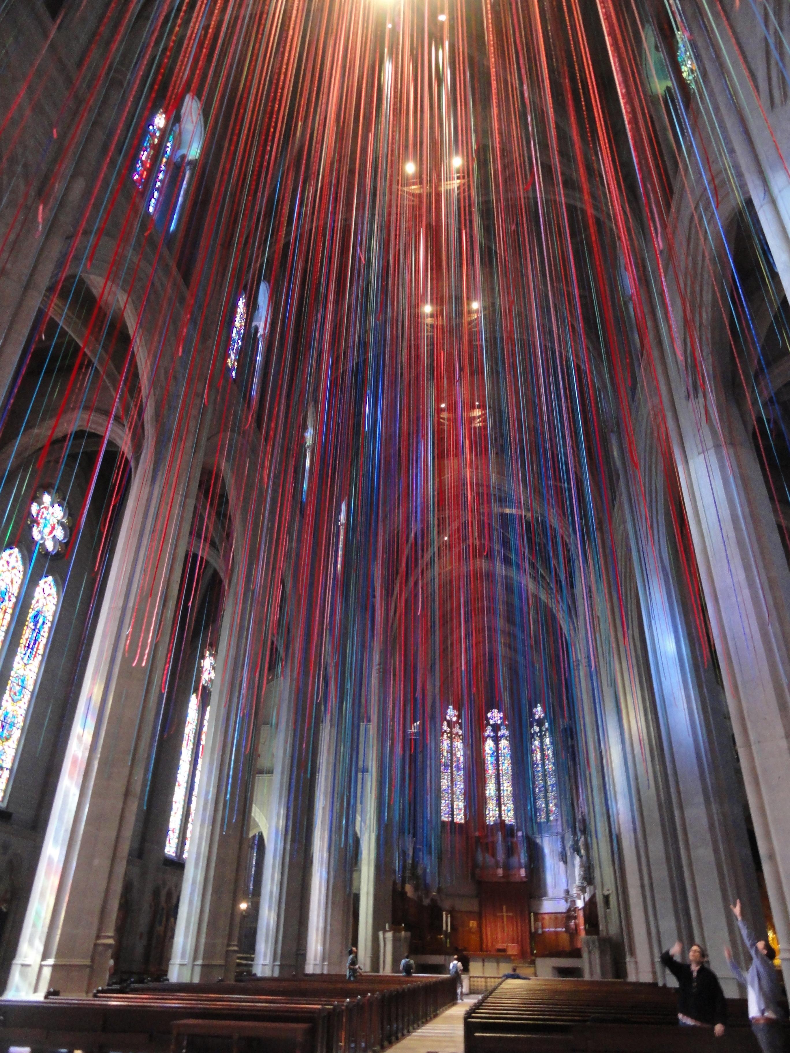 Heaven on Earth Yehudi Menuhin's Manifesto 1970 Grace-cathedral-ribbon-installation